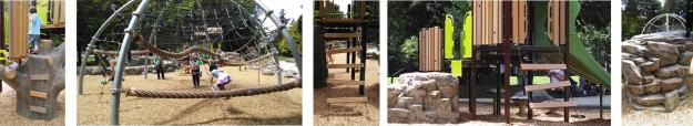 Woodland Park playground by landscape structures