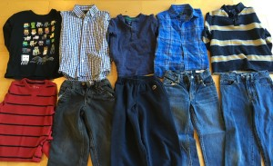 photo of clothing purchased at consignment shop