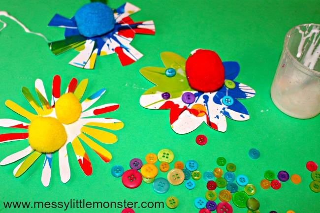 easy flower craft for preschoolers