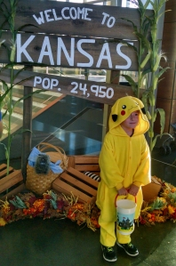 photo of child in pikachu costume