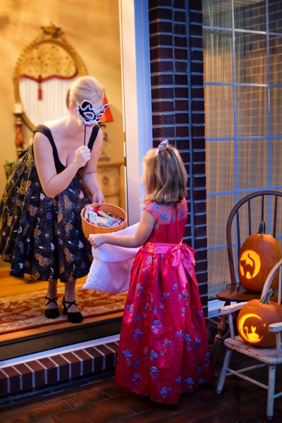 stock photo of child trick or treating