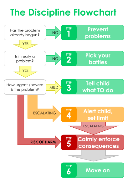 discipline flow chart diagram